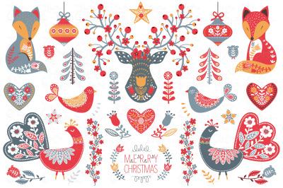 Scandinavian Nordic Christmas Set