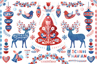 Watercolor Scandinavian Christmas