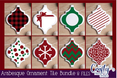 Arabesque Tile Ornament Svg, Christmas Svg, Patterned Svg