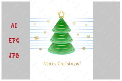 Merry Christmas! Elegant greeting card.