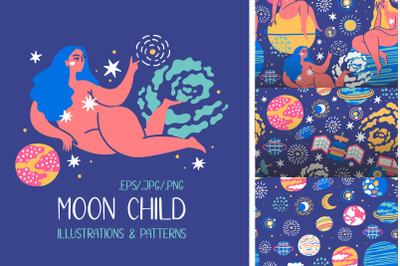 MOON CHILD illustrations & patterns