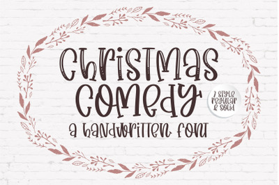 Christmas Comedy - A adorable handwritten mixed case font