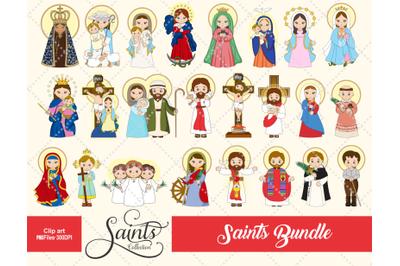 Saints Collection BUNDLE, Catholic Saint, Religious, Gabz