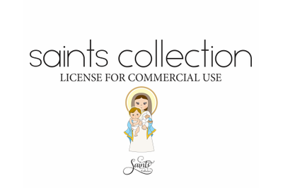 Single commercial license for the Saints Collection