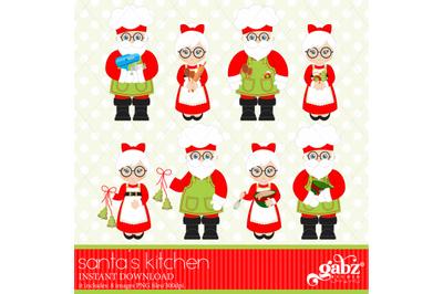Kitchen of Santa, Baking at Christmas, Santa Baking, Christmas Cookie