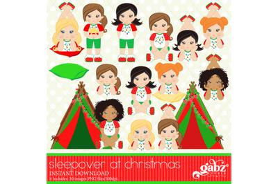 Sleepover at Christmas, Christmas in Pajamas, Slumber Party Girls