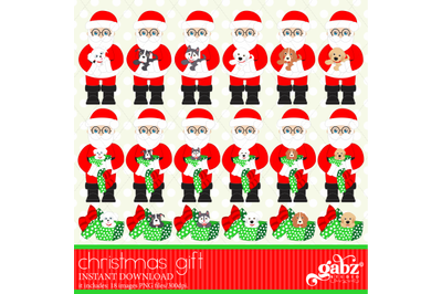 Christmas Gift, Christmas Pets, Santa Claus