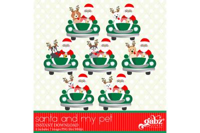 Santa and My Pet, Christmas Pets, Santa Claus