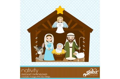 Nativity, Clipart, Nacimiento, Holidays, Merry Christmas