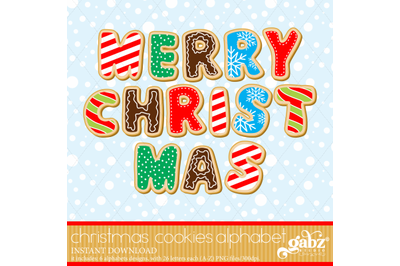 Cookies Christmas Alphabet, Chocolate, Candy Cane
