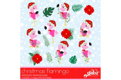 Christmas Flamingo, Flamingo, Flowers
