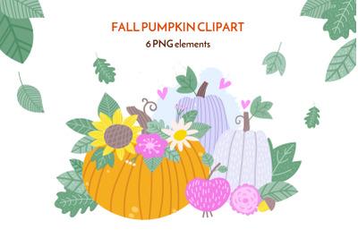 Pumpkin vase clipart. PNG 7