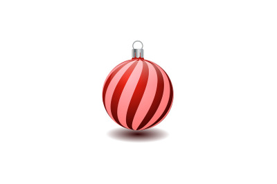 Red and Pink Christmas Tree Bauble
