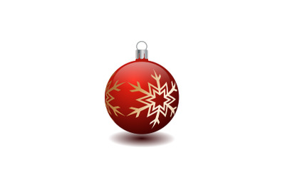 Red Christmas Tree Bauble Illustration