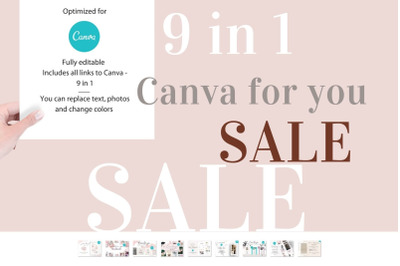Sale! 9 in 1 Canva for you