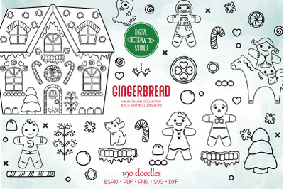 Hand Drawn Gingerbread Cookies | DIY Boy & Girl | Christmas Candy Hous