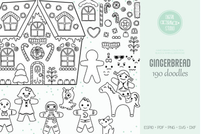 Hand Drawn Gingerbread Cookies | DIY Boy & Girl | Christmas Candy Hous