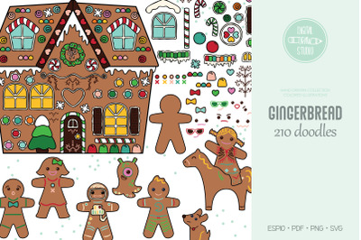 Gingerbread Cookies Colored | DIY Boy & Girl | Christmas Candy House