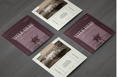 Fashion Square Trifold Brochure