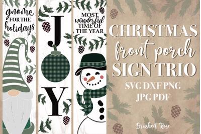 Christmas porch signs | Christmas Gnome | Joy | Snowman