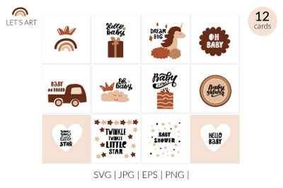 Baby shower svg, baby shower clipart, new baby svg, oh baby svg, moder
