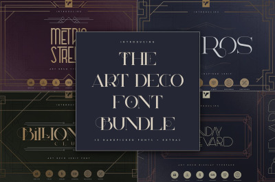The Art Deco Font Bundle