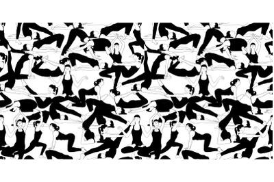 seamless pattern joga