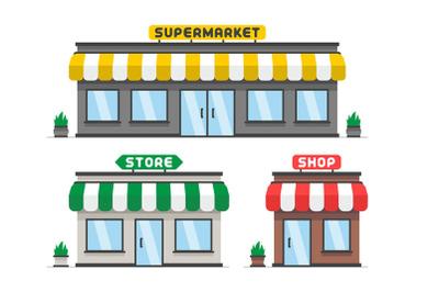 Store or shop facade