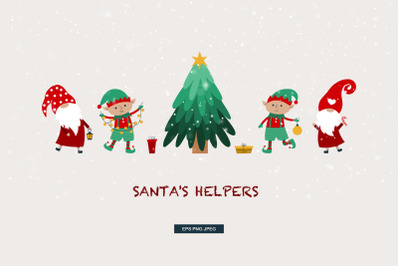 Santas helpers/gnomes&elves
