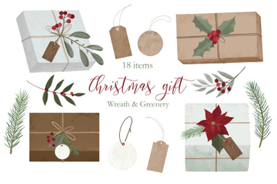 Christmas Gift Box Clipart