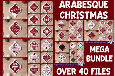 Arabesque Tile Ornament Svg, Christmas Svg, Mega Bundle