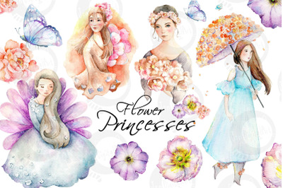 Flower Princesses | Watercolor Illustrations