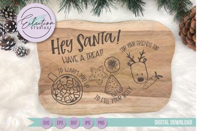 Dear Santa Tray SVG, Christmas Eve Plate