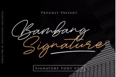 Bambang Signature V2.0 - Signature Font
