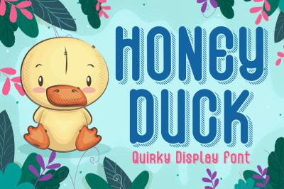 Honey Duck - Fun Shadow Font