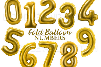Golf Foil Number Balloons Clipart