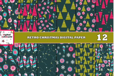Christmas Digital Retro Patterns
