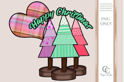 Christmas sublimation design - Happy Christmas