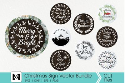 Christmas Sign Svg Bundle, Christmas Svg, Wood Sign Svg