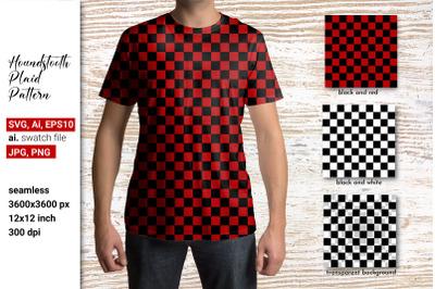 Red plaid pattern Plaid SVG Checkered Black and white plaid