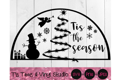 Tis The Season Svg, Christmas Svg, Snowglobe, Snow Globe, Merry Christ