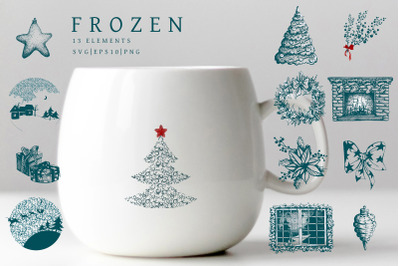 Frozen Christmas Clip Art