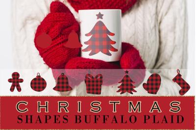 Buffalo plaid Christmas, shapes, sublimations
