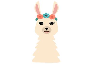 Cute Llama SVG Cut Files, PNG llamas clipart, farmhouse clip art, funn