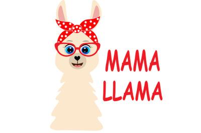 Mama Llama SVG Cut Files, Mama  llamas clipart, farmhouse clip art, fu