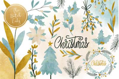 Christmas Greenery Clipart Set
