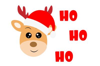 Reindeer Santa Claus,  Baby Shirt cut file ,Reindeer svg, Christmas SV