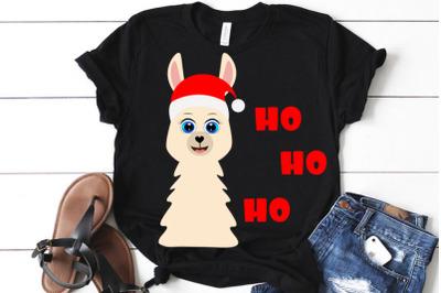 Llama Santa Claus svg,  Baby Shirt cut file , alpaca svg, Christmas SV