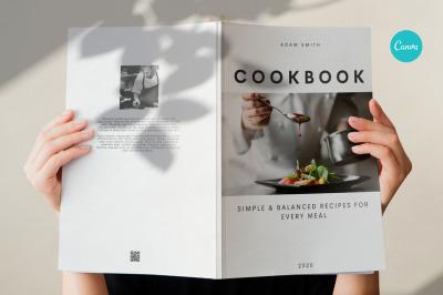 Cookbook template. Canva Recipe book template