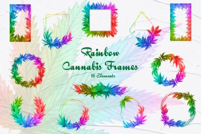 Rainbow Cannabis Frames